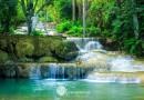 น้ำตกเกาฟุ สวยงามที่สร้างด้วยฝีมือมนุษย์  อยู่ที่อำเภองาว จังหวัดลำปาง