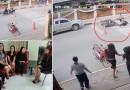 คลิป ตำรวจลำปางฮีโร่ช่วยเด็กไม่ให้ถูกรถชน